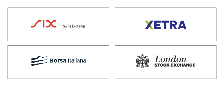 UBS ETFs are traded on stock exchanges in Zurich, Frankfurt, Milan and London.