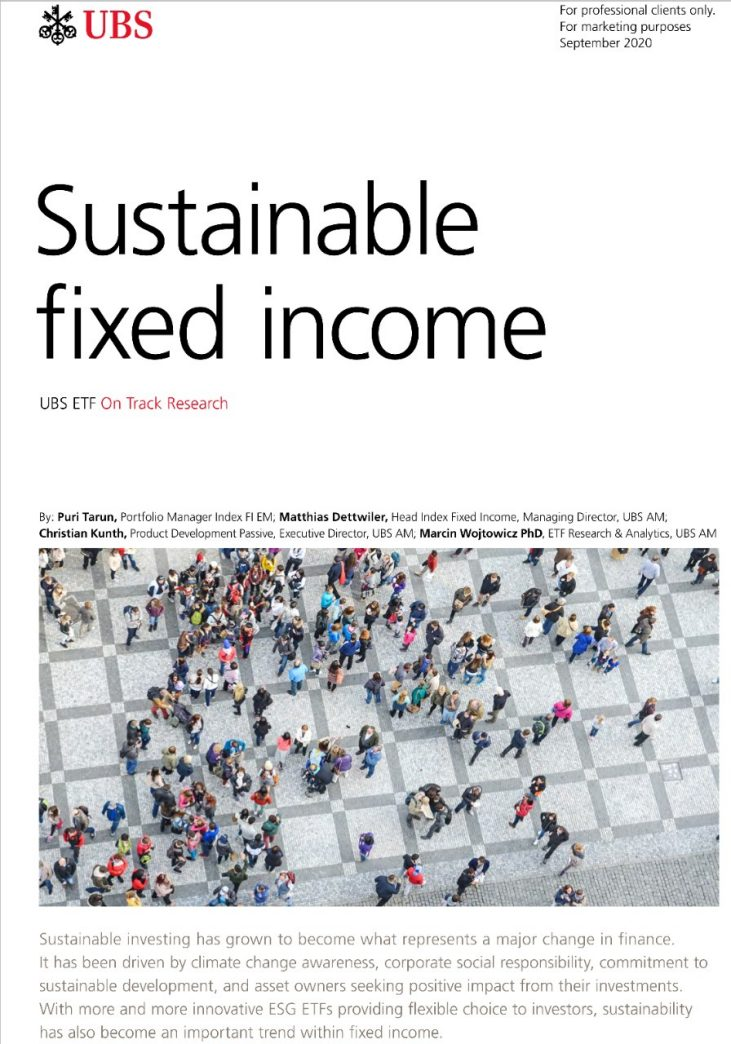 UBS sustainable fixed income ETFs