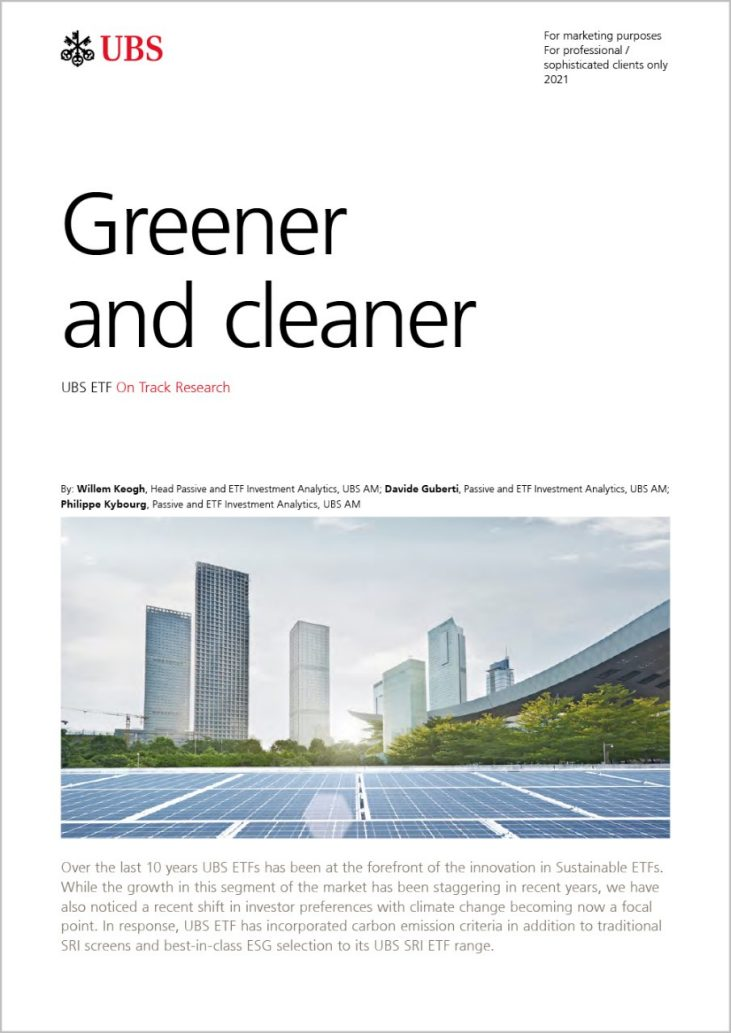 UBS Greener and cleaner  ETFs