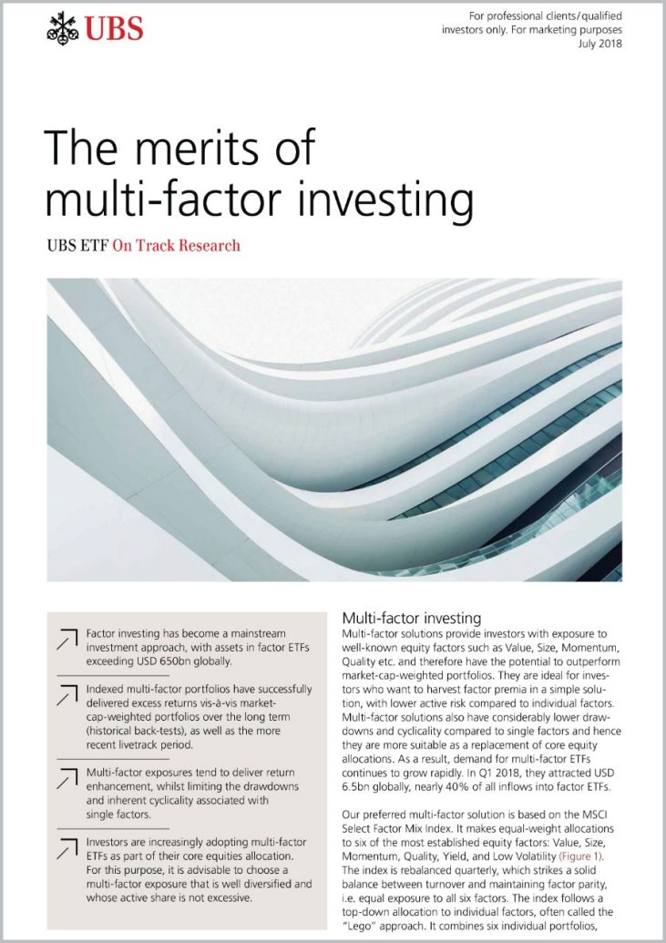 July 2018: The merits of multi-factor investing
