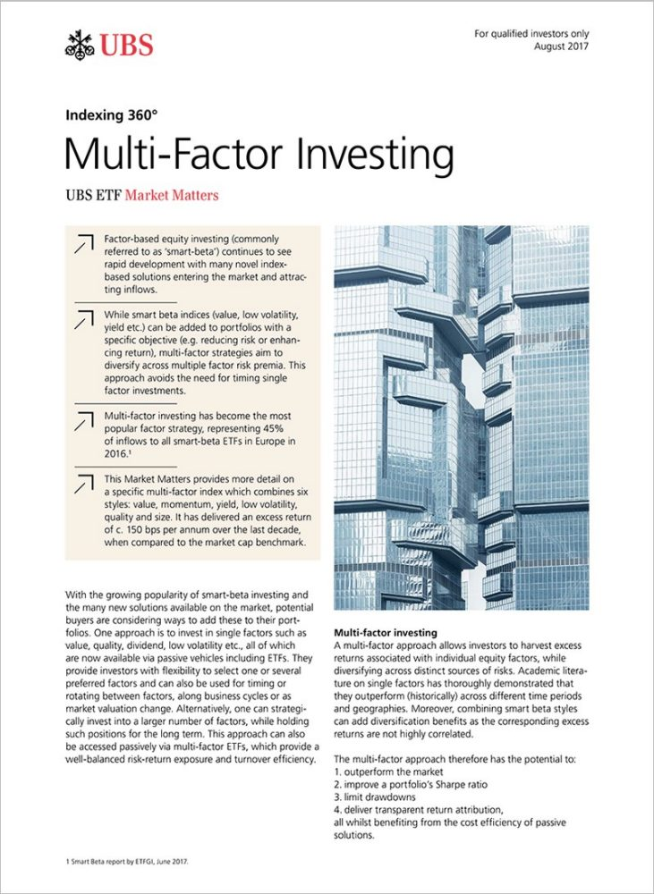 Indexing 360°: Multi-Factor Investing